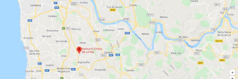 DomusVi Clínica da Lomba - Localização